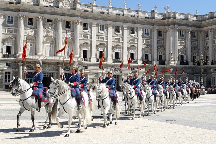 caballos guardia real no Palacio Real